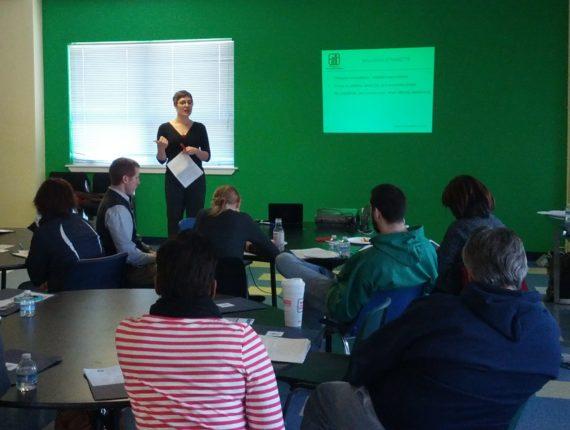 Kaela presents an inclusive fitness training