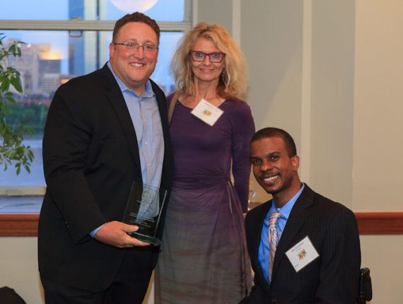 David Shapiro receiving The Legends Award