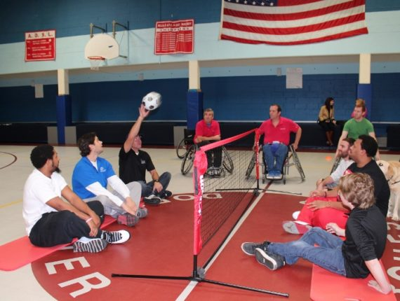 Dorchester B&GC staff playing accessible volleyball