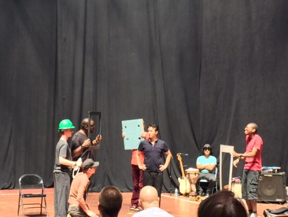 Group of participants performing a skit
