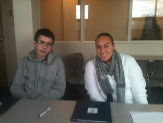 Evan and Cassie at their first match meeting!