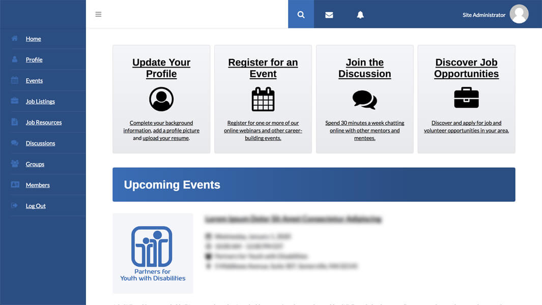 eMentoring Platform Preview #1