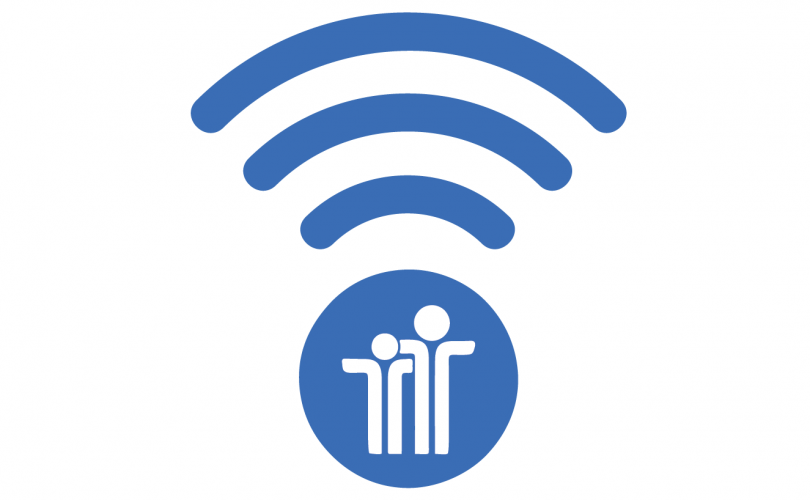 The PYD logo (two stick figures with arms around each other) inside a circle, with a wi-fi signal above it