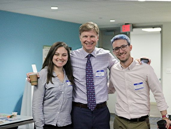 Nicole (left) Marketing Coordinator at PYD, Derek Shields (middle) director of the NDMC, Steve Slowinski (right) National Inclusion Manager and IT Quality Administrator smiling for a photo at the Boston Inclusion Community Training