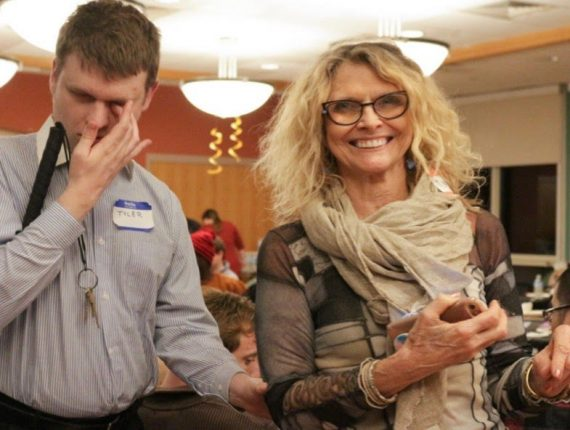 PYD member Joe (Left) and Regina Snowden smiles for photo at Mentor Appreciation Night