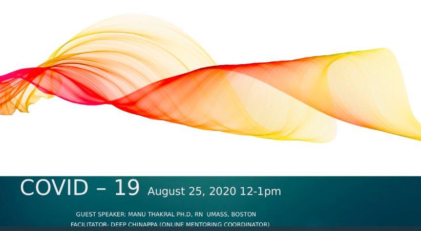 COVID-19 webinar, guest speaker Manu Thakral