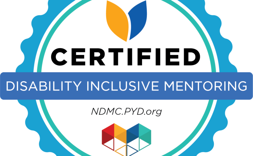 Disability Inclusive Mentoring certification badge
